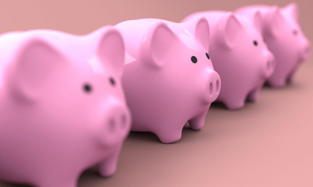 spaarpotjes beginnen met sparen
